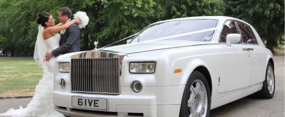 White Rolls Royce Wedding Cars Coventry